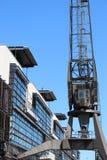 Gr?as hist?ricas del puerto en el puerto de Hamburgo foto de archivo
