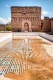 Gr Badi Palace, Marrakech, Marocco stock afbeeldingen