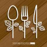 2014 11 15 GR 788 BIG. Food design over brown background, vector illustration Royalty Free Stock Photos