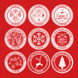 2014 08 02 GR 682 BIG P. Christmas design over red background,vector illustration Royalty Free Stock Photography