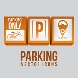 2014 11 15 GR 786 BIG. Parking design over gray background, vector illustration stock illustration