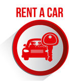 2014 11 15 GR 786 BIG. Rent a car over white background, vector illustration stock illustration