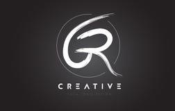 GR Brush Letter Logo Design. Artistic Handwritten Letters Logo C. GR Brush Letter Logo Design. Artistic Handwritten Brush Letters Logo Concept Vector royalty free illustration