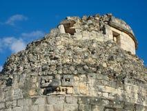 Gr Caracol is oud Maya waarnemingscentrum in archeologische plaats o Royalty-vrije Stock Foto's