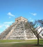 Gr Castillo in Chichen Itza, Mexico. Stock Afbeelding