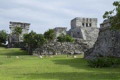 Gr Castillo op het Eind van het Noorden Tulum stock afbeeldingen