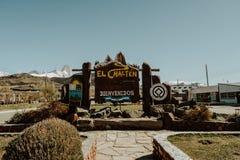 Gr Chalten, een Bergstad in Patagonië Argentinië royalty-vrije stock foto's