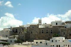 Gr?cia a ilha de Naxos A porta As paredes do Kastro Venetian velho imagem de stock royalty free