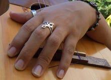 Gr Cuatro, Venezolaans muzikaal instrument Stock Afbeeldingen