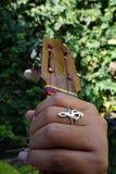 Gr Cuatro, Venezolaans muzikaal instrument Royalty-vrije Stock Afbeeldingen