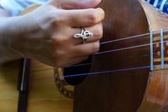 Gr Cuatro, Venezolaans muzikaal instrument Royalty-vrije Stock Foto's