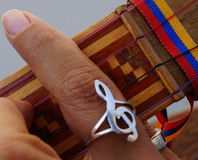 Gr Cuatro, Venezolaans muzikaal instrument Stock Foto's