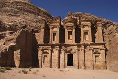 Gr Deir of het Klooster, Jordanië Stock Afbeelding