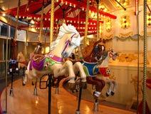 går den glada rounden för hästen Arkivbilder