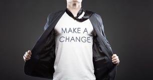 Gör en ändring, ung lyckad affärsman Arkivfoto