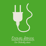 2014 11 07 GR 778. Energy saving design over green background,vector illustration royalty free illustration