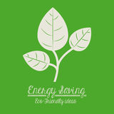 2014 11 07 GR 778. Energy saving design over green background,vector illustration Royalty Free Stock Photos
