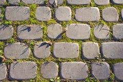 Gr?a f?rberedande stenar arkivfoto