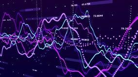 Gr?fico do mercado de valores de ac??o Visualiza??o grande dos dados conceito do gr?fico do investimento rendi??o 3d fotos de stock