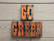 Går grön bakgrund  Royaltyfria Bilder