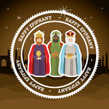 2014 11 14 GR 785. Happy epiphany design over desertscape  background, vector illustration Stock Photos