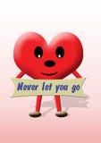 går hjärta l5At aldrig valentinen dig Arkivfoto