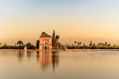Gr Jardin DE La Menara, Marrakech, Marruecos royalty-vrije stock foto