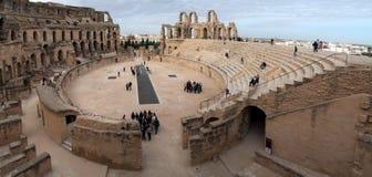Gr Jem Amphitheater Tunisia Stock Afbeeldingen