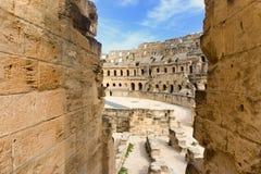 Gr Jem Ruins in Gr Djem, Tunesië stock foto