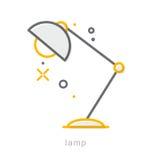 Gör linjen symboler, lampa tunnare Fotografering för Bildbyråer