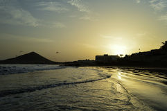 Gr Médano, Tenerife Stock Afbeelding