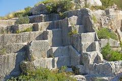 Gr Médol Roman Quarry, Tarragona, Spanje Stock Afbeeldingen