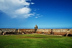 Gr-Morro, Bastion in San Juan Stock Afbeelding