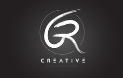 GR muśnięcia listu loga projekt Artystyczny Ręcznie pisany listu logo C royalty ilustracja