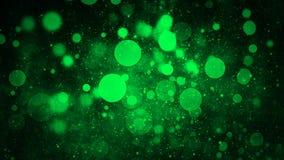 Gr?n abstrakt bokehbakgrund verkliga dammpartiklar med verkliga linssignalljusstj?rnor bl?nka ljus Defocused abstrakta ljus glatt royaltyfri illustrationer