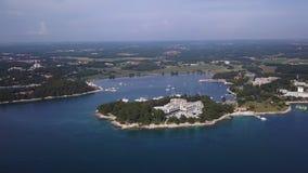 Gr?n Laguna stad av Porec Kroatien lager videofilmer