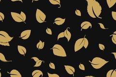 Gr?n treibt nahtloser Hintergrund Bl?tter Nahtloses Muster der B?ume des Waldes nave lizenzfreie abbildung