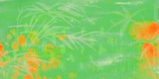 Gr?ner Hintergrund des Aquarells stock abbildung
