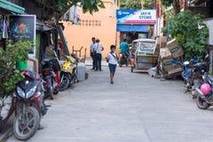 GR NIDO, FILIPPIJNEN - JANUARI 24, 2018: De Stad van Gr Nido in Palawan, Filippijnen royalty-vrije stock afbeelding
