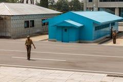 Gr?ns mellan norden och Sydkorea royaltyfri fotografi