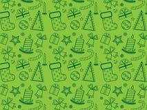 grön wallpaper för jul Arkivbilder