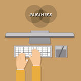 2014 11 19 GR 789 P. Business design over brown background, illustration Royalty Free Stock Photography