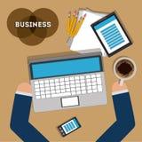 2014 11 19 GR 789 P. Business design over brown background, illustration Royalty Free Illustration
