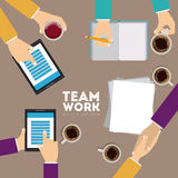 2014 11 19 GR 789 P. Business design over gray background, illustration Stock Illustration