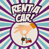 2014 11 13 GR 784 P. Rent a car design over Colorful stripes background, vector illustration Stock Image
