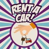 2014 11 13 GR 784 P. Rent a car design over Colorful stripes background, vector illustration Vector Illustration