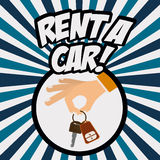 2014 11 13 GR 784 P. Rent a car design over Colorful stripes background, vector illustration Stock Photography