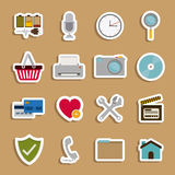 2014 11 13 GR 784 P. Symbols design over beige background, vector illustration Stock Image