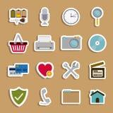 2014 11 13 GR 784 P. Symbols design over beige background, vector illustration Royalty Free Illustration