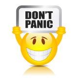 Gör panikslagen inte tecknet Fotografering för Bildbyråer